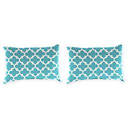 Print Outdoor Lumbar Throw Pillows (Set of 2)