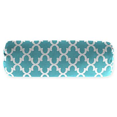Moroccan Trellis Print 20-Inch Oblong Throw Pillow
