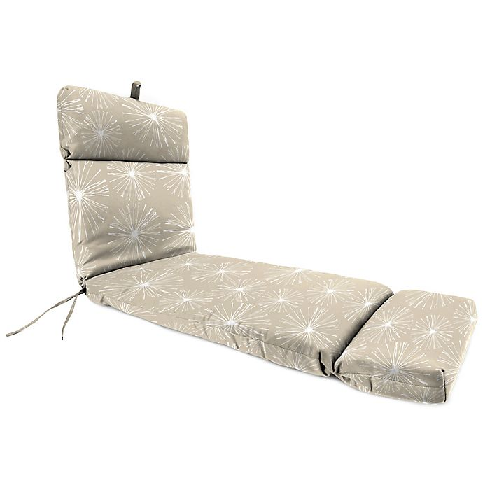 Alternate image 1 for Print 72-Inch Chaise Lounge Cushion in Oyster