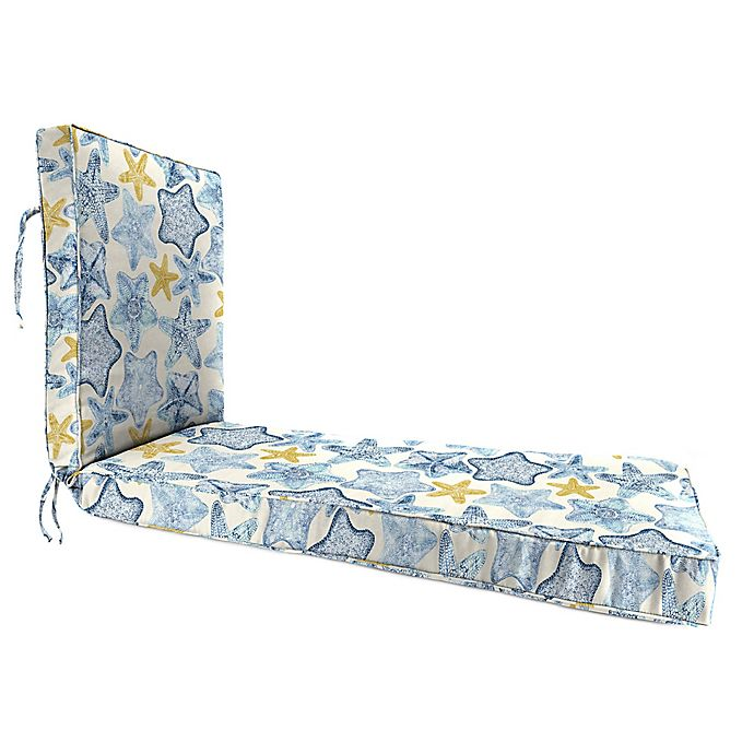 Alternate image 1 for Jordan Manufacturing Seabiscuit Cobalt 80-Inch Chaise Lounge Cushion in Blue/Multi