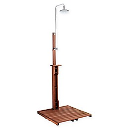Southern Enterprises Eucalyptus Outdoor Shower in Brown