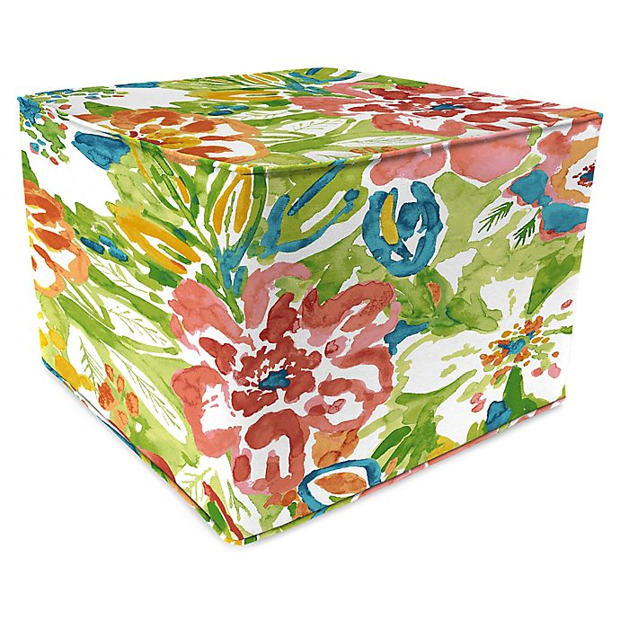 Peachy Jordan Manufacturing Sunriver Garden Outdoor Square Pouf Caraccident5 Cool Chair Designs And Ideas Caraccident5Info