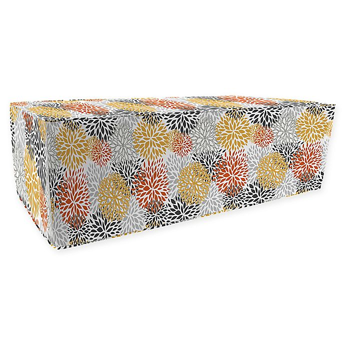 Alternate image 1 for Jordan Manufacturing Bloom Citrus Outdoor Rectangle Pouf Ottoman in Red