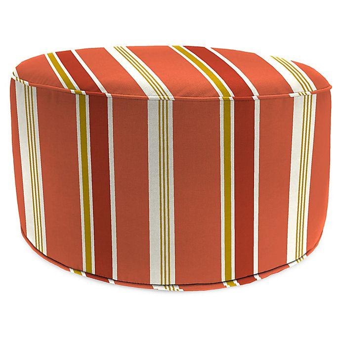 Cool Jordan Manufacturing Heatwave Stripe 24 Inch Round Pouf Squirreltailoven Fun Painted Chair Ideas Images Squirreltailovenorg