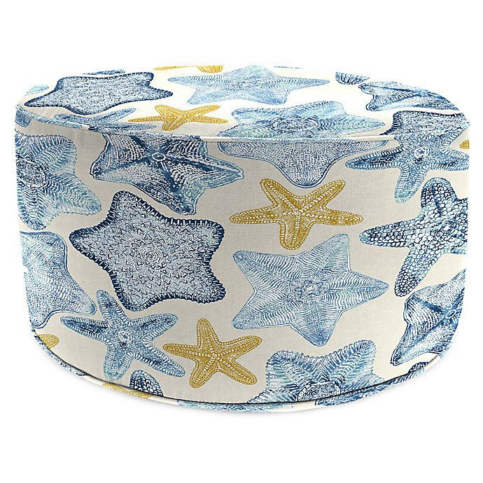 Jordan Manufacturing Seabiscuit 24 Inch Round Pouf Ottoman