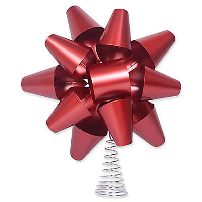 Exclusive Decorative Red Metal Bow Tree Topper
