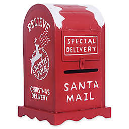 Exclusive Decorative Red Metal Santa Mailbox