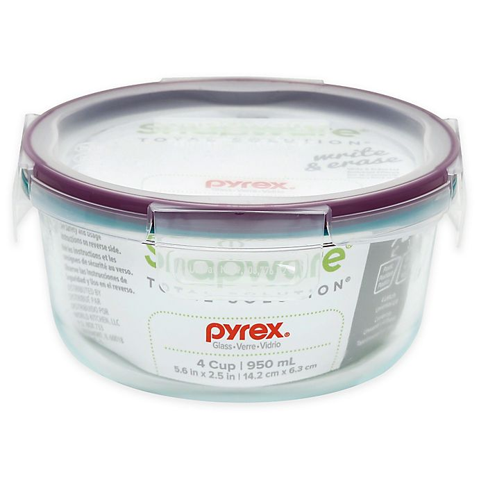 Alternate image 1 for Snapware® Pyrex® 4-Cup Food Storage Container with Lid in Purple