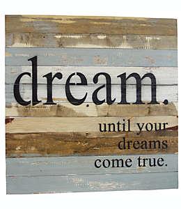 Letrero de madera Sweet Bird & Co® Dreams Come True, 72 cm en chocolate