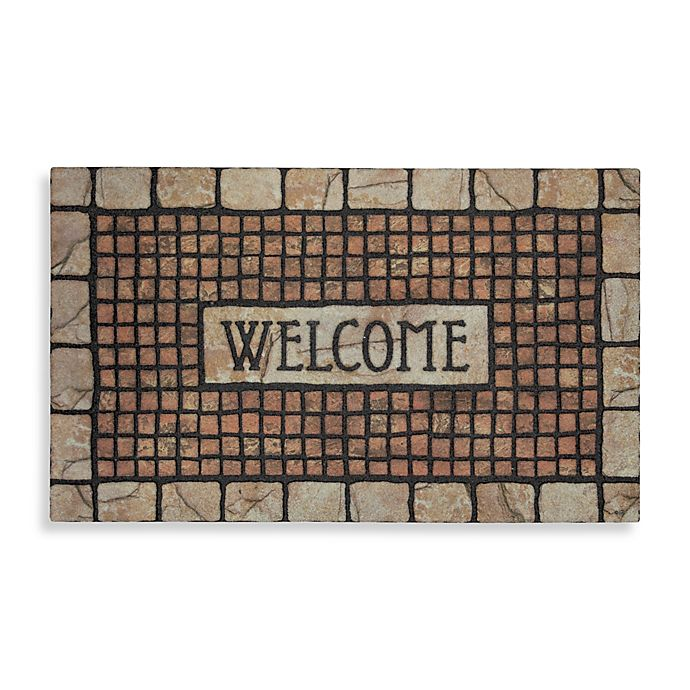 Alternate image 1 for Mohawk Home® Mosaic Terracotta Rubber Door Mat