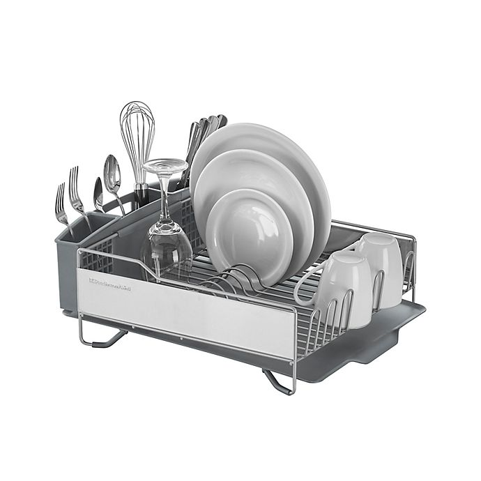 Alternate image 1 for KitchenAid® Full Size Dish Rack in Light Grey