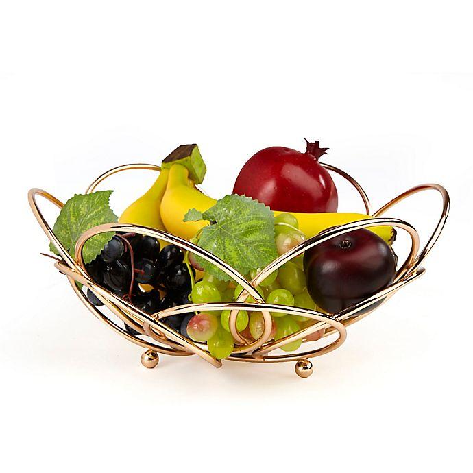 Alternate image 1 for Mind Reader Modern Fruit and Vegetable Bowl in Rose Gold