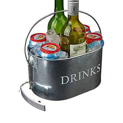 Mind Reader 6-Drink Oval Bottle Caddy in Silver