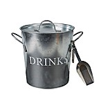 Mind Reader Metal Ice Bucket with Scooper in Silver