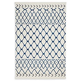 Nourison Kamala Power-Loomed Area Rug in White/Blue