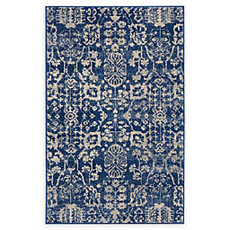 Nourison Somerset Vintage Woven Accent Rug in Navy