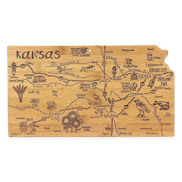 Alternate image 1 for Totally Bamboo Destination Bamboo Kansas Cutting Board