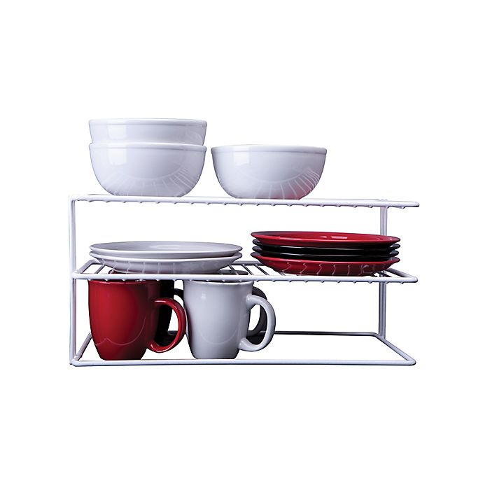 Alternate image 1 for SALT™ Large 2-Shelf Cabinet Organizer in White