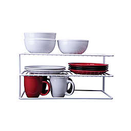 SALT™ Large 2-Shelf Cabinet Organizer in White