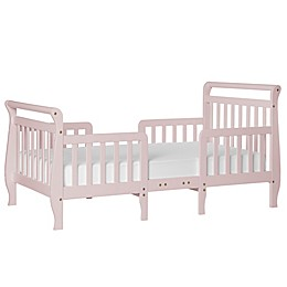 Dream On Me Emma 3-in-1 Convertible Toddler Bed in Blush
