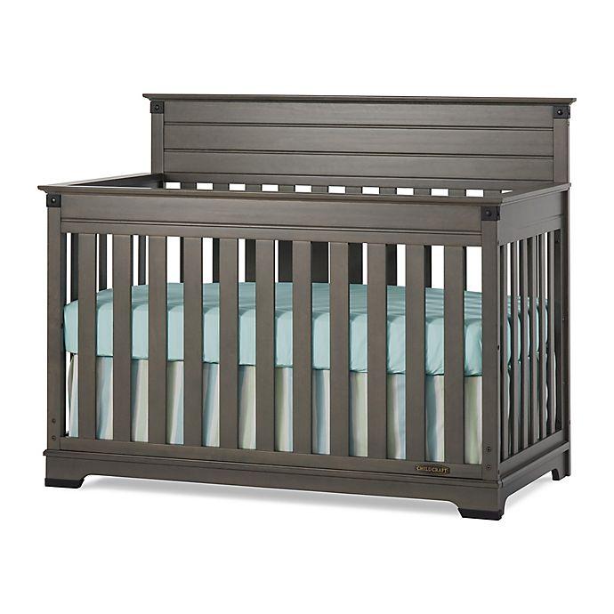 Alternate image 1 for Child Craft™ Redmond 4-in-1 Convertible Crib in Dapper Grey