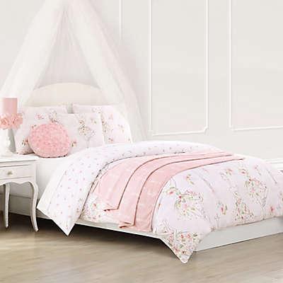 Baxton Studio Floral Ballerina Reversible Comforter Set