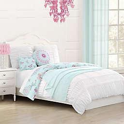 Baxton Studio Gardenia Reversible Comforter Set