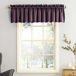 Sun Zero® Bella Rod Pocket Room Darkening Window Valance in Plum