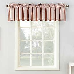 Sun Zero® Bella Rod Pocket Room Darkening Window Valance in Blush