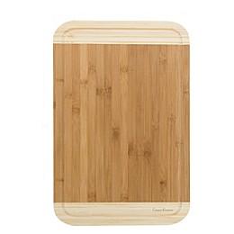 Classic Cuisine 12-Inch x 18-Inch 2-Tone Bamboo Cutting Board