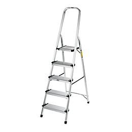 Polder® 5-Step Ultra Light Step Ladder in Aluminum