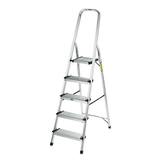 Alternate image 1 for Polder® 5-Step Ultra Light Step Ladder in Aluminum