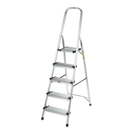 Polder 174 5 Step Ultra Light Step Ladder In Aluminum Bed
