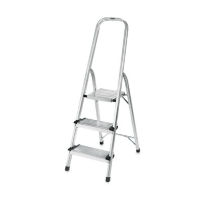 Polder 174 3 Step Ultra Light Step Ladder In Aluminum Bed