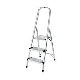 Polder® 3-Step Ultra Light Step Ladder in Aluminum