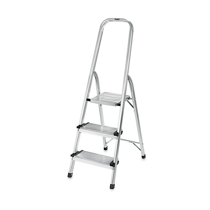Sensational Polder 3 Step Ultra Light Step Ladder In Aluminum Bed Gmtry Best Dining Table And Chair Ideas Images Gmtryco