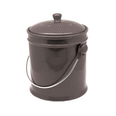 Natural Home™ 1-Gallon Ceramic Compost Bin in Charcoal