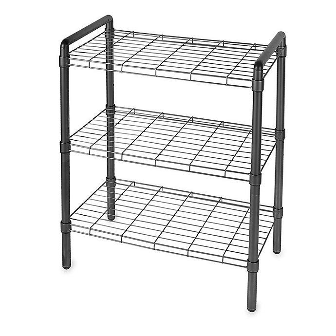 Alternate image 1 for 3-Tier Adjustable Storage Rack in Black