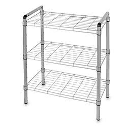 3-Tier Adjustable Storage Rack in Silver