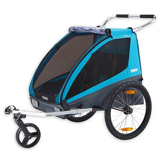 Alternate image 1 for Thule® Kids Coaster XT Bike Trailer in Blue