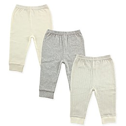 Luvable Friends® 3-Pack Pants in Grey/Beige