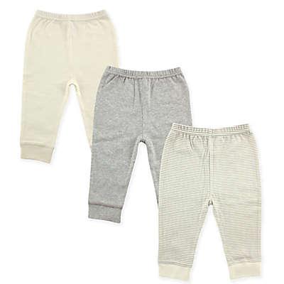 Luvable Friends® 3-Pack Pants in Grey/Beige