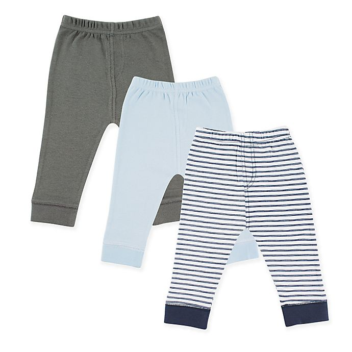 Alternate image 1 for Luvable Friends® Size 18-24M 3-Pack Pants in Navy