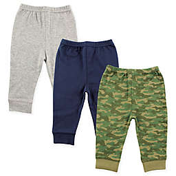 Luvable Friends® Size 9-12M 3-Pack Camo Pants in Army Green