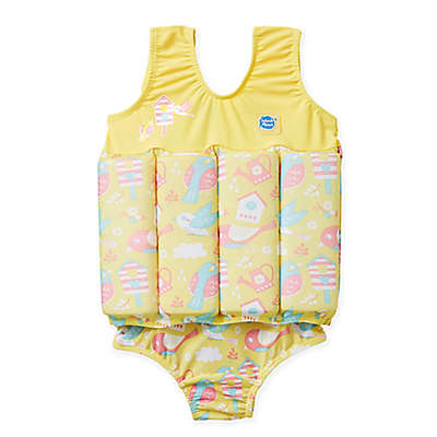 Splash About Girls' Float Suit in Garden Birds
