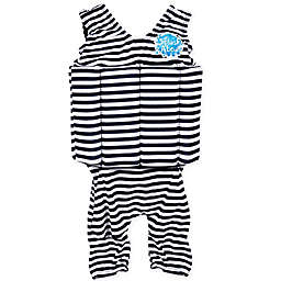 Splash About Boys' Short John Float Suit in Navy Stripes