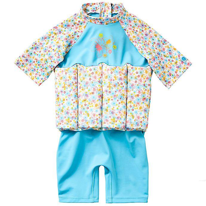 Alternate image 1 for Splash About Girls' UV Float Suit in Garden Birds