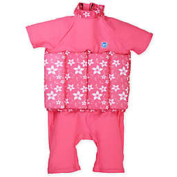 Splash About Girls' UV Float Suit in Pink Blossom