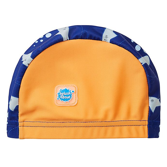Alternate image 1 for Splash About Shark Swim Cap in Orange