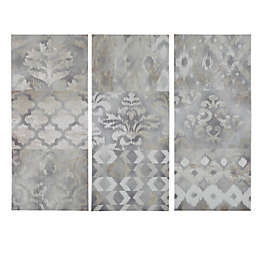 Madison Park Watercolor Ikat 35-Inch x 45-Inch 3-Panel Canvas Triptych Wall Art
